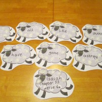 All we like sheep... memory verse idea