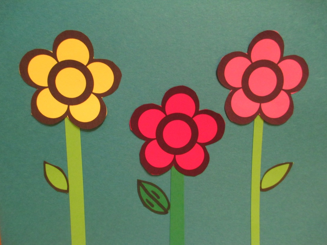 Flower craft – our noses – we are wonderfullymade!