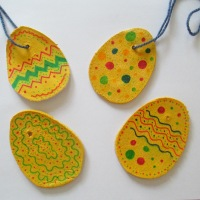 Salt dough egg decorations