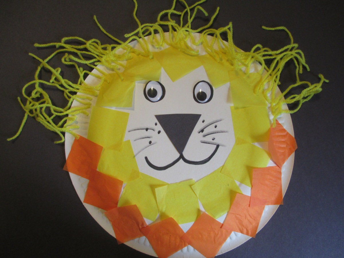 God made big animals - paper plate craft ideas