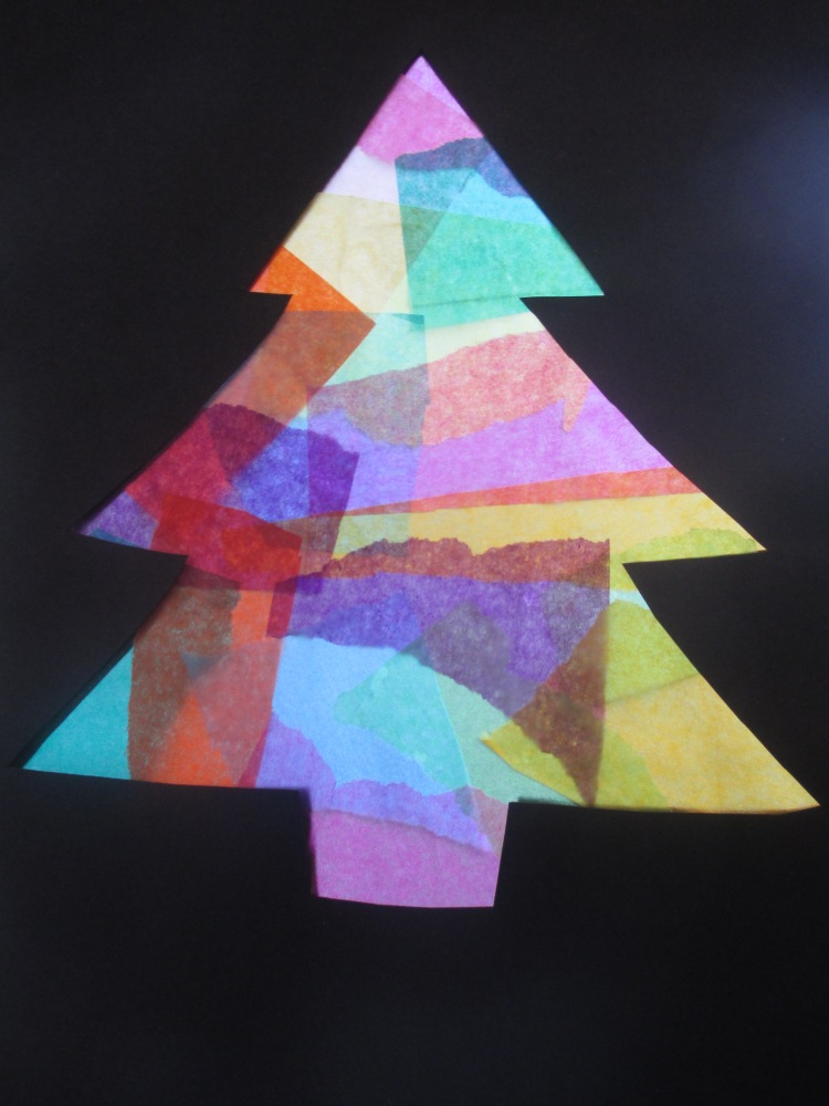 Stained glass Christmas tree (3/4)