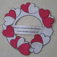 Valentine Wreath Craft - free Pdf