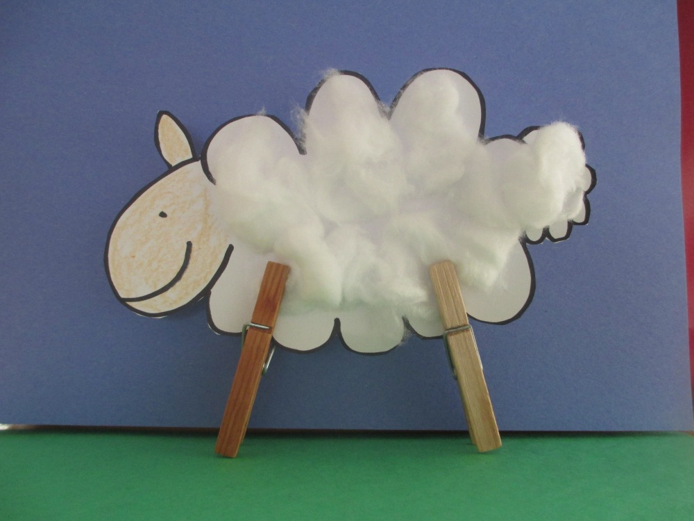 L is for lost sheep - Bible alphabet (Pdf for craft activity) (2/3)