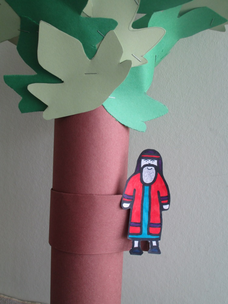 Zacchaeus in the tree craft (5/6)
