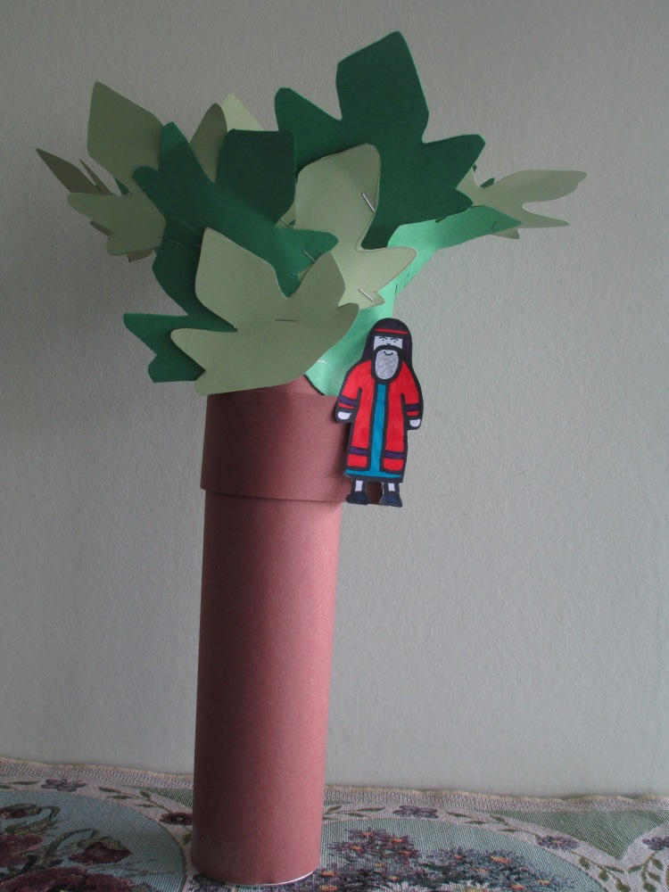 Zacchaeus in the tree craft (3/6)