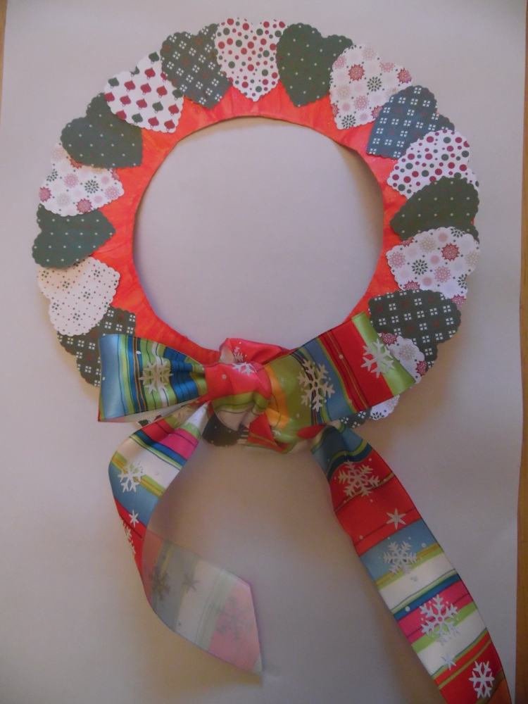 Christmas heart wreath (4/4)