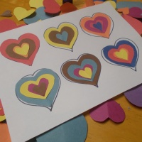 Kandinsky inspired Valentine craft