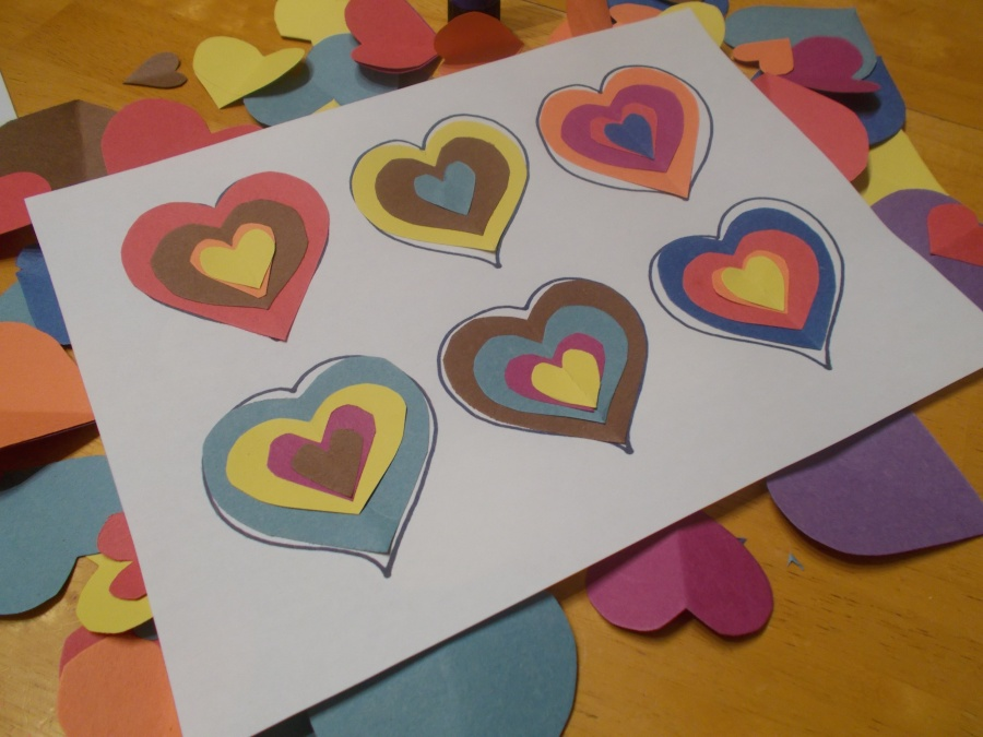 Kandinsky inspired love hearts