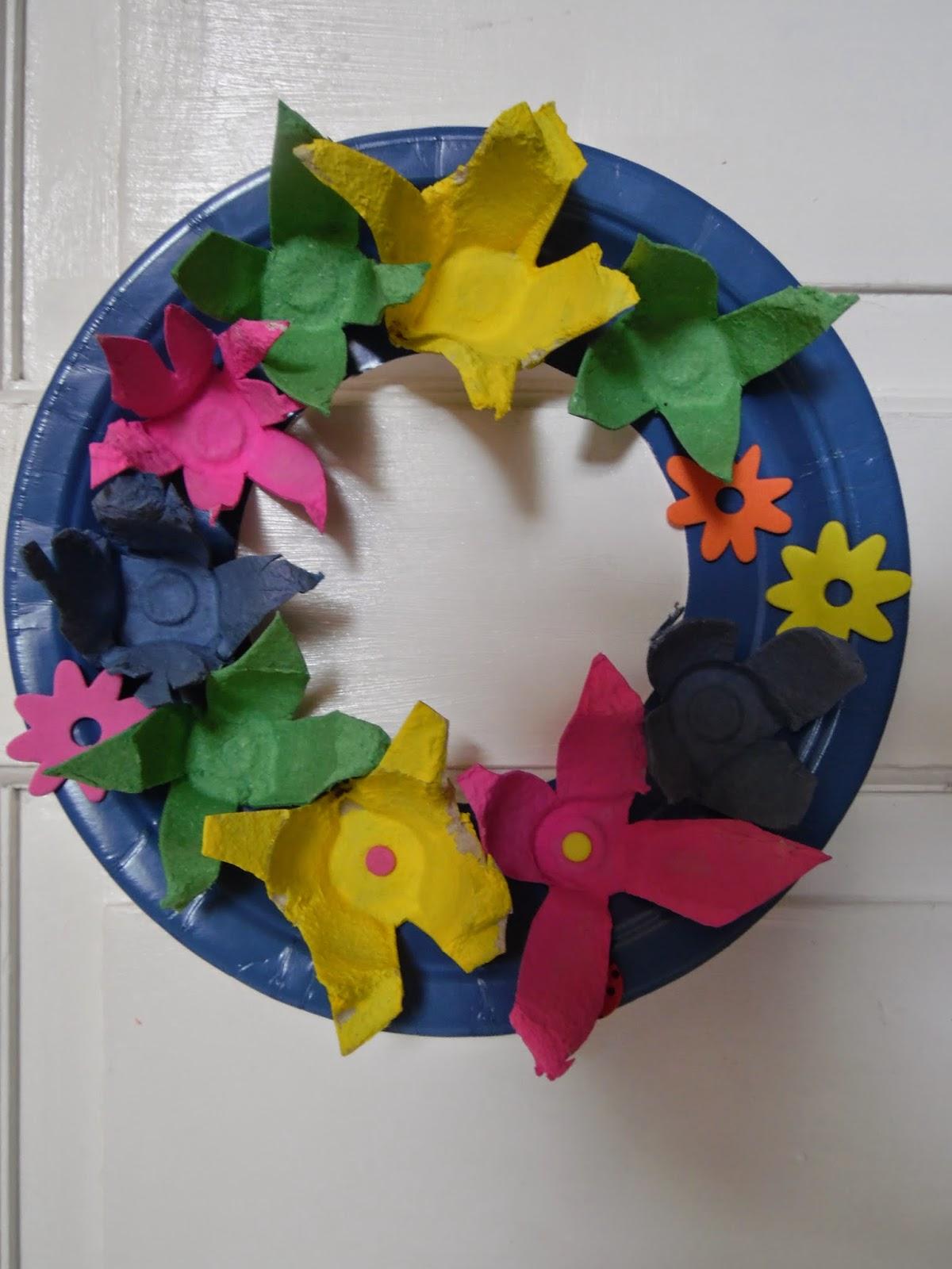 Easter Egg Box Wreath Let Their Light Shine