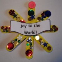 Star Christmas decoration to make - using lollipop sticks