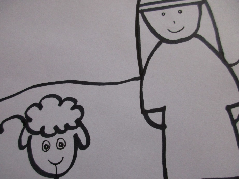 shepherd and sheepprintable