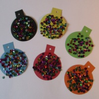 Christmas baubles craft