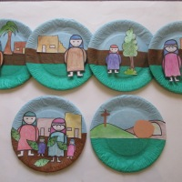 On the way to Easter...paper plate pictures