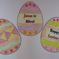 Easter egg colouring printables
