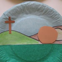 Easter Story Paper Plate Craft