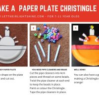 Make a Paper Plate Christingle for 7-11 year olds