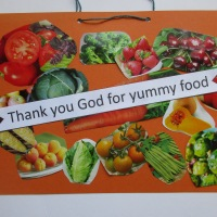 'Thank you God for yummy food' craft